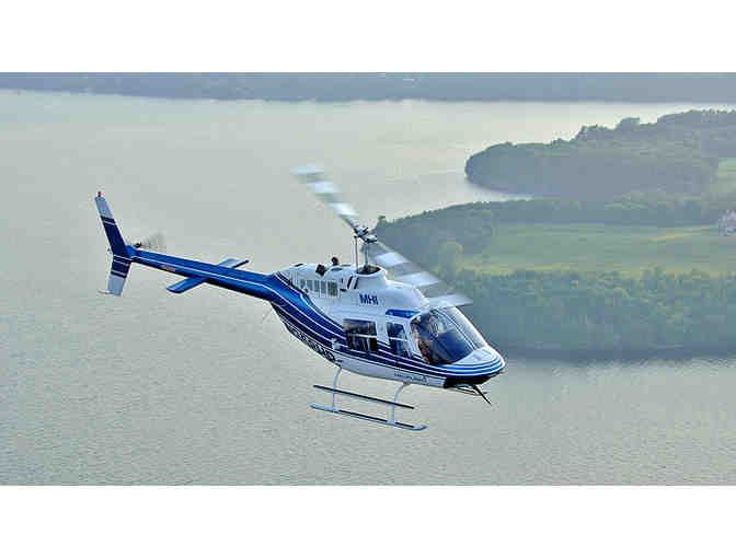 1-Hour Scenic Helicopter Tour for 3 from Mansfield Heliflight