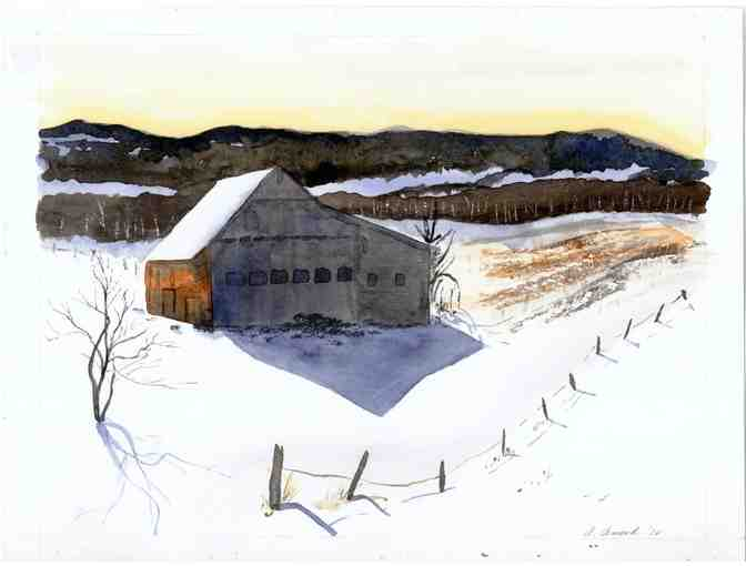 Waitsfield Barn, Fine Art Print, by Amanda Amend
