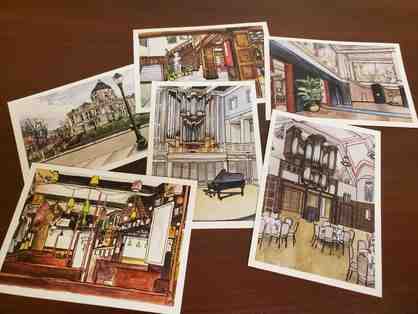 12 Artistic Bloomington Postcards