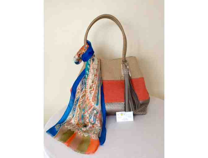 Beautiful bag and scarf from the lovely collection of -  Two B Accessories