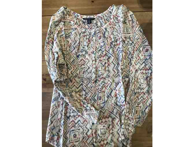 American Living abstract print ladies cotton blouse by American Living