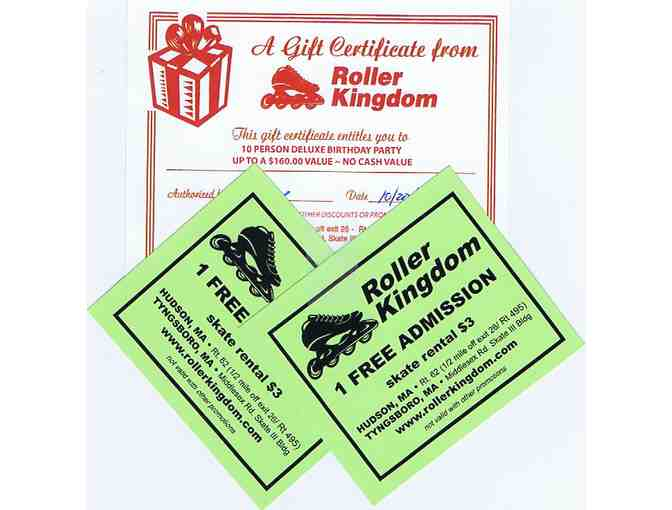 7 Admission Passes to Roller Kingdom + Gift Certificate for Deluxe Birthday Party