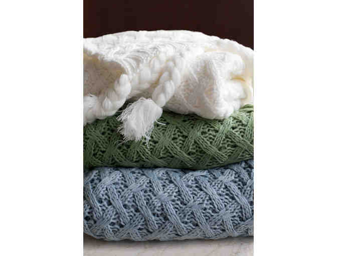 Woven Workz Throw - Judy - in Wedgewood Blue