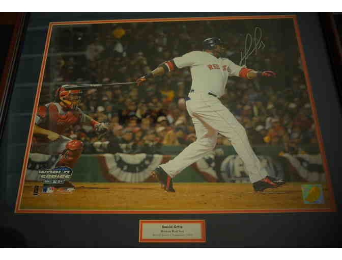 Photo of Big Papi at bat - World Champion Red Sox from 2004