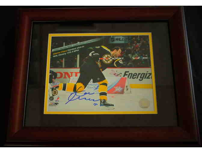 Autographed action photo of Bruin's great - Zdeno Chara