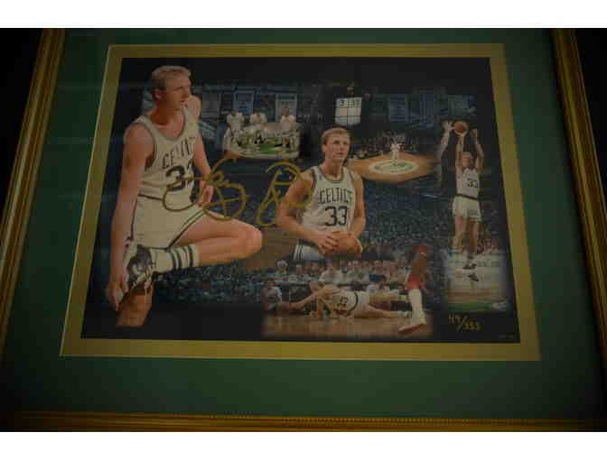 Unique photo collage of the Celtic's great Larry Bird