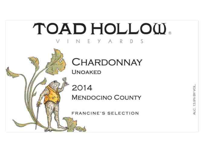 Large bottle of Toad Hollow Vineyard's Chardonnay 2014