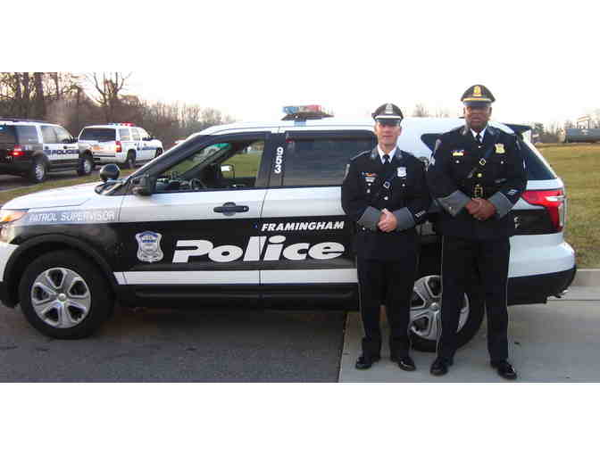 Unique Experience - A ride in a Framingham Police Car!