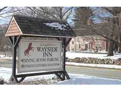 Complimentary dinner for two at the Wayside Inn