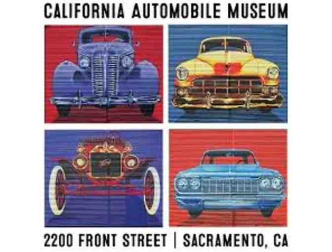 California Auto Museum - Family Pass for Four (4) Admissions