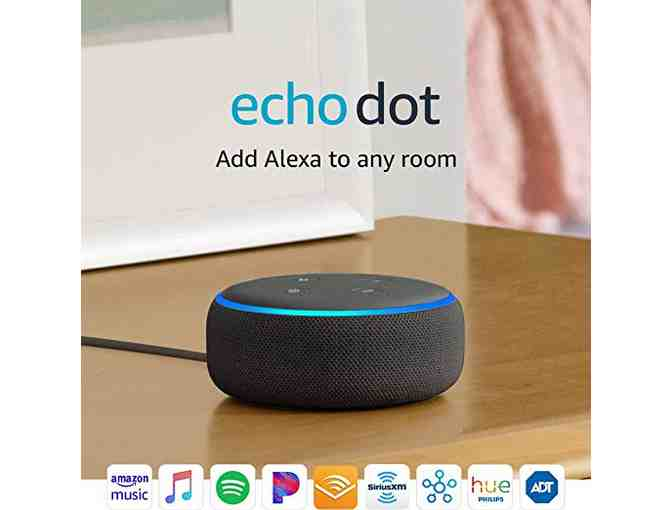 Amazon Echo Dot- 3rd Generation- Charcoal