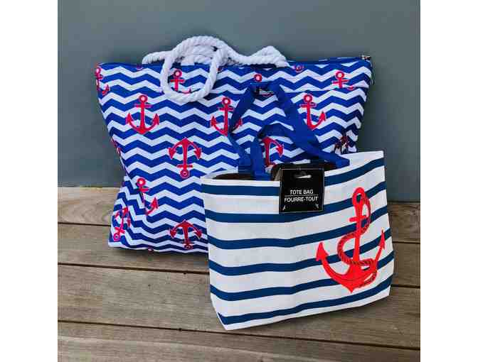 Nautical Tote Bags for the Beach!