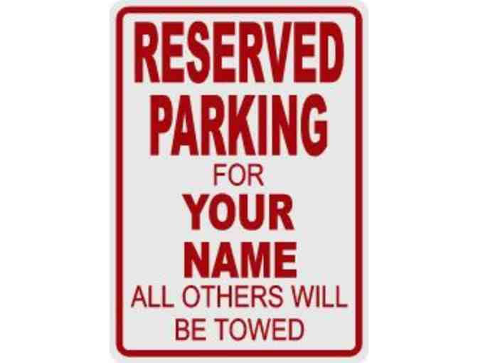 Reserved Parking Spot for a Senior