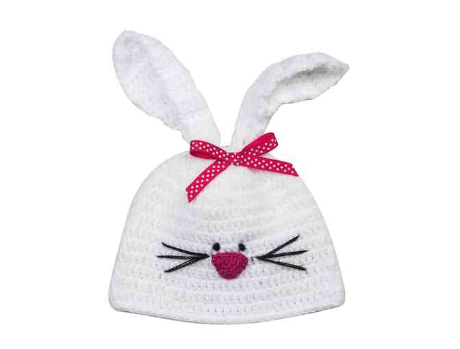 Baby Bunny Knit Hat and Bootie Set - Photo 2