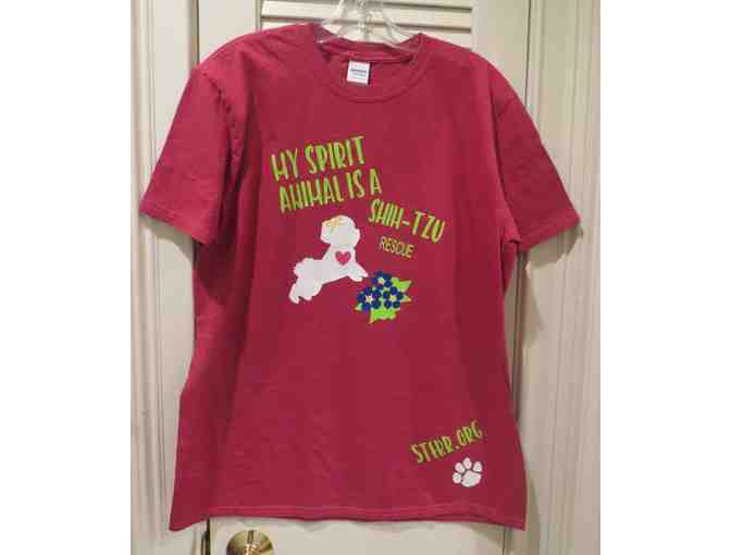 """My Spirit Animal is a Shih Tzu Rescue"" T-Shirt Sz. L - Photo 1"