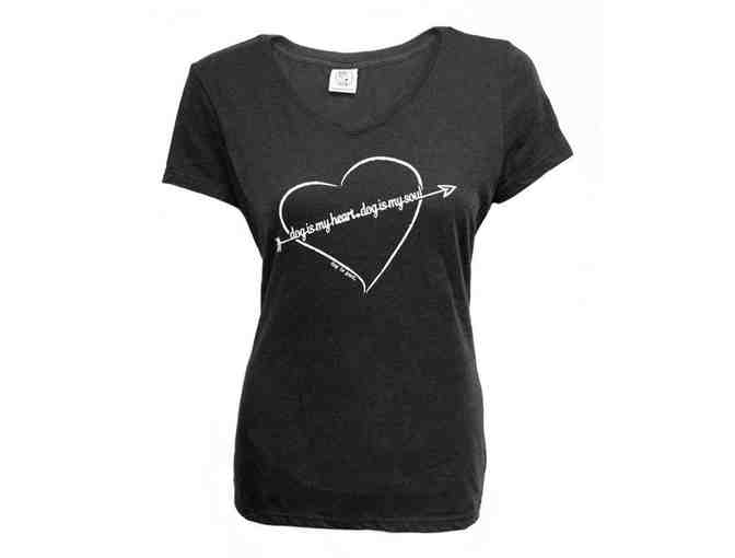 Dog is my Heart ladies' T-Shirt  size M - Photo 1