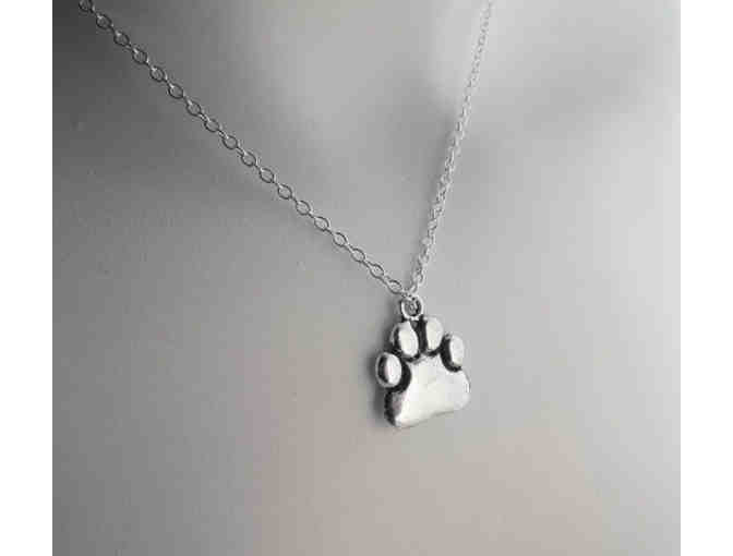 SILVER PAW NECKLACE