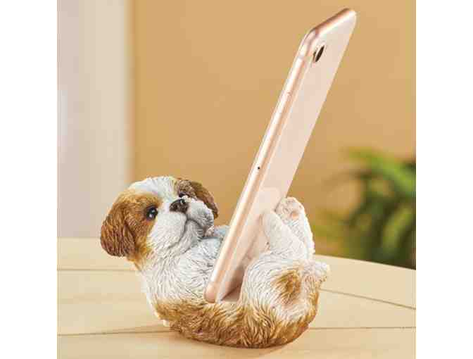 Shih Tzu Puppy Cell Phone Holder Stand - Photo 1