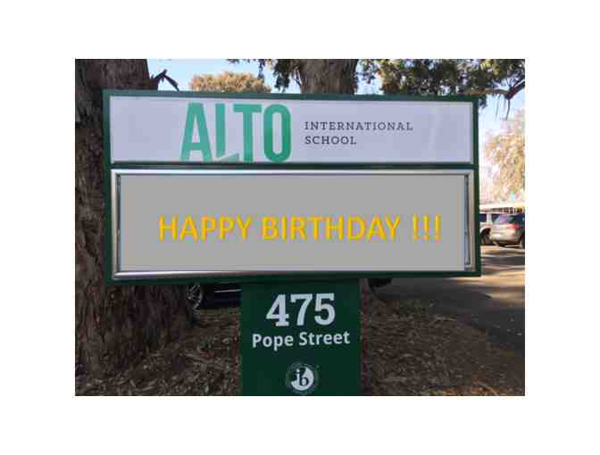 Birthday greetings on ALTO announcement board