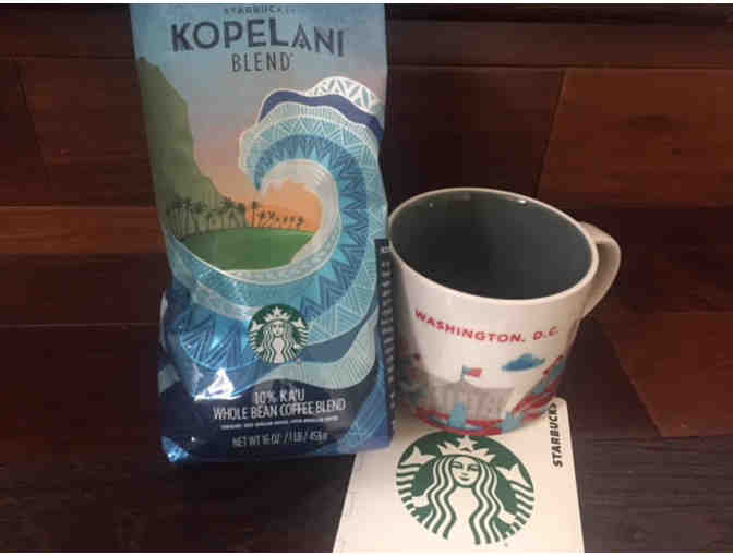 $15 Starbucks Gift Card with a Starbucks Washington D.C. Mug & Coffee Beans - Photo 1