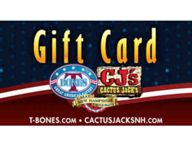 $25 Gift Certificate to T-Bones or Cactus Jack's - Photo 1