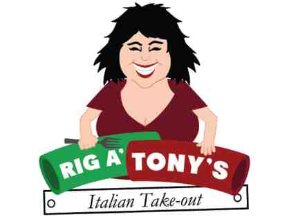 $25 Gift Certificate to Rig A' Tony's Italian Takeout - Derry, NH