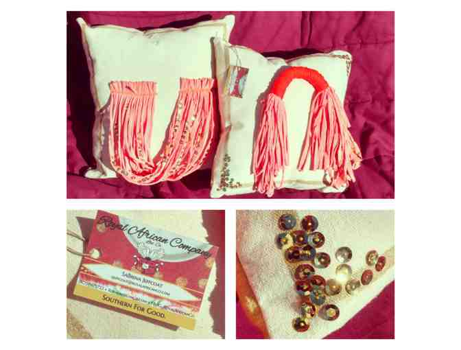 Royal African Company | Two Handmade Pillows