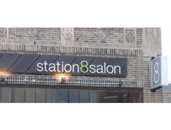 $110 at Station 8 Salon (Massage and Haircut) - Jamaica Plain, MA