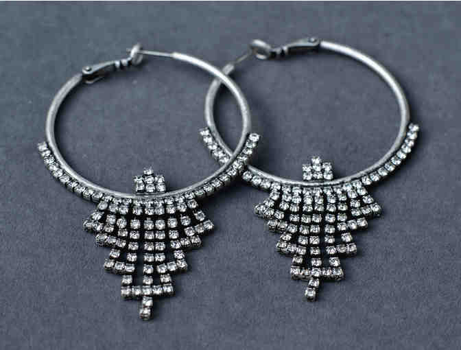 Art Deco Inspired Hoop Earrings