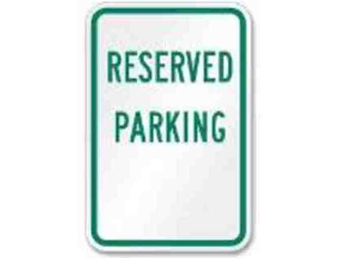 One (1) Reserved Parking for Back to School Night, Fall 2015