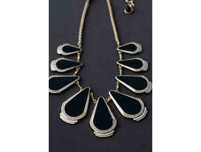Art Deco Inspired Black Necklace