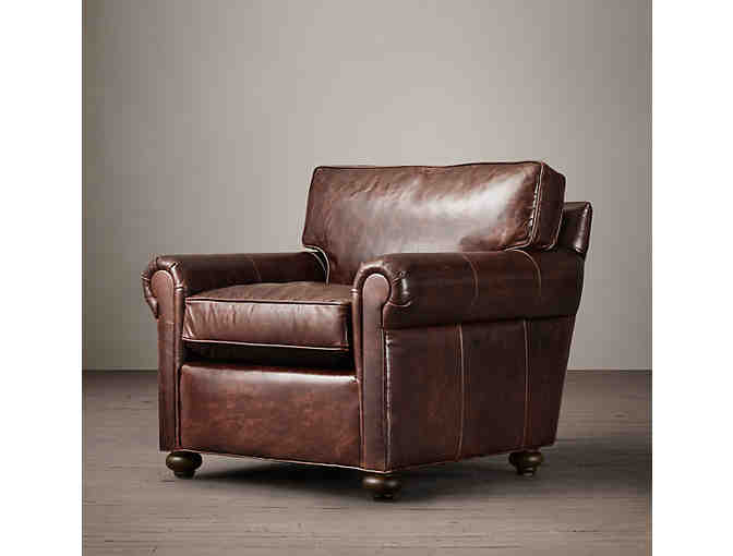 One (1) Petite Lancaster Leather Chair from Restoration Hardware