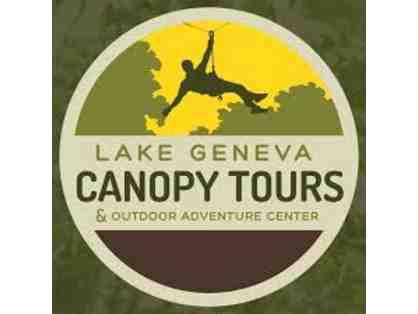 Lake Geneva Canopy Tours - 1 adult zipline