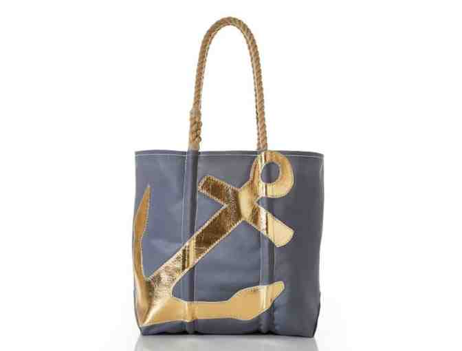 Sea Bags Gold-on-Grey Anchor Medium Tote donated by Nvest Financial Group