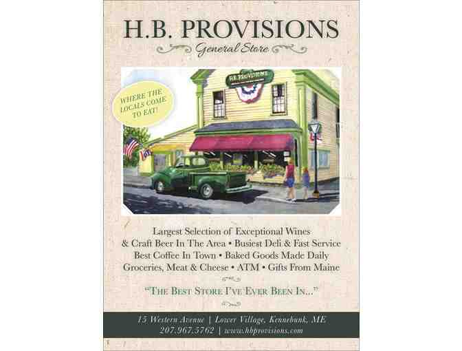 $25 gift card to H.B. Provisions