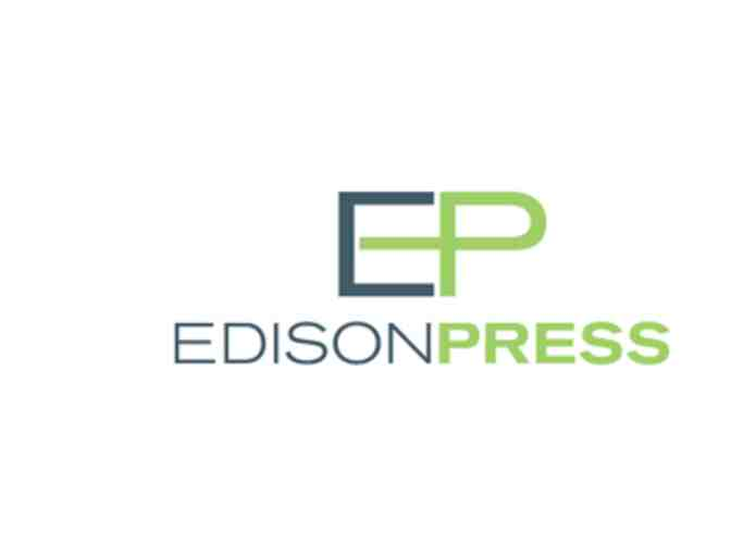 $100 gift certificate for printing services from Edison Press