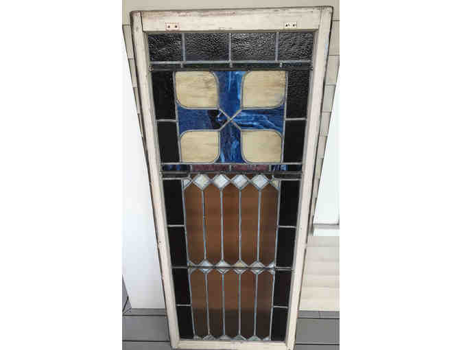1880's Stained Glass Window donated by Old House Parts