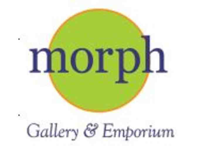 $50 Gift Card and Linnea Design Cosmetic Bag donated by Morph Gallery & Emporium