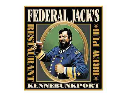 $100 Gift Card to Federal Jack's Restaurant and Brew Pub