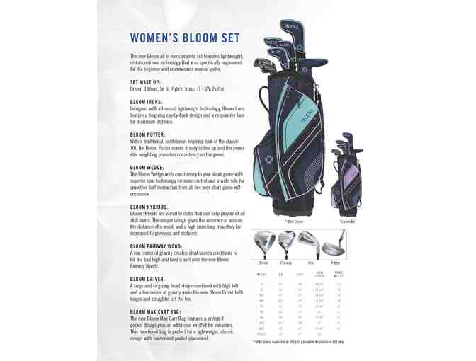 Cleveland Golf Bloom Women's Clubs and Bag