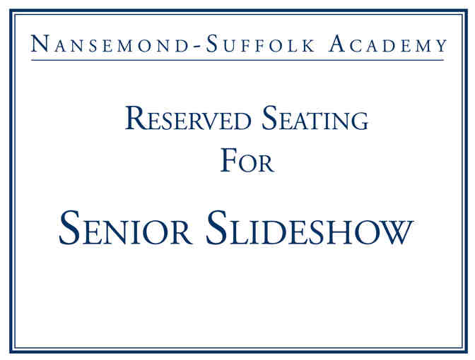 8 Reserved seats for the Senior Slideshow! - Photo 1