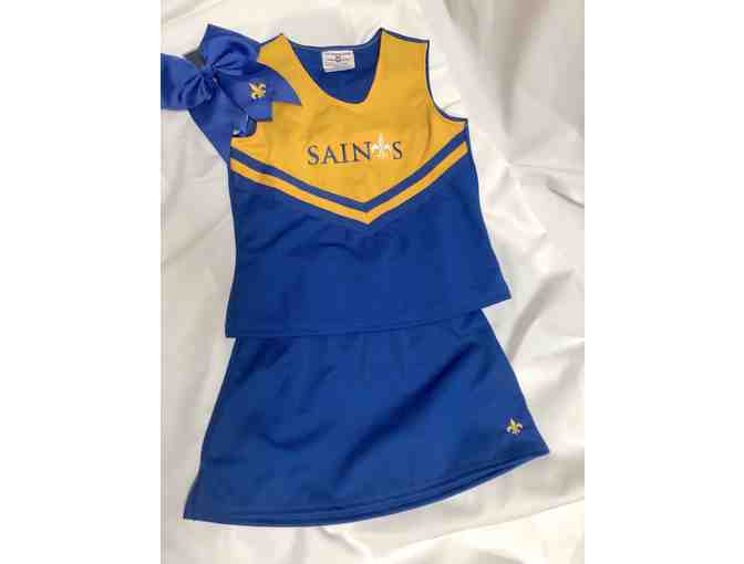 Girls Cheerleading Outfit and Bow - Photo 1