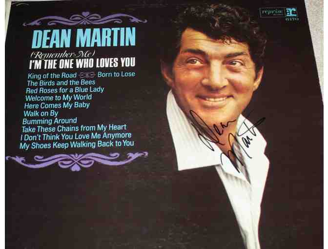 Autographed Dean Martin album and cover - Photo 1