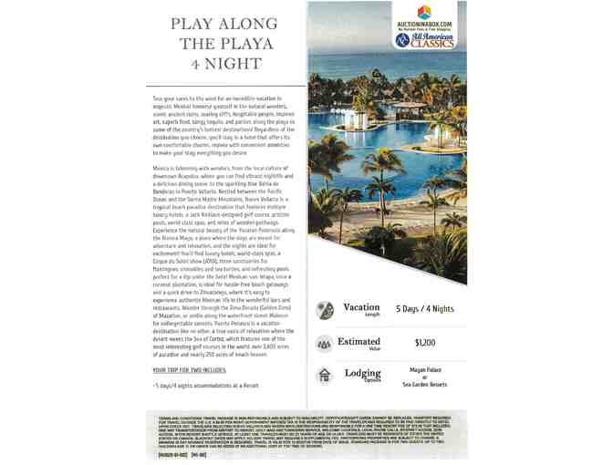 Play Along the Playa - Mexico Resort 4 Nights for Two - Photo 1