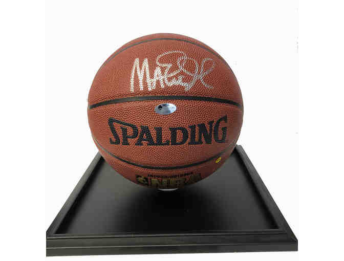 Basketball signed by Magic Johnson with COA
