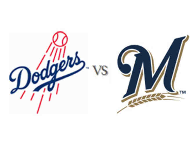 2 Dodgers tickets vs the Brewers on Monday, July 30 at 7:10pm