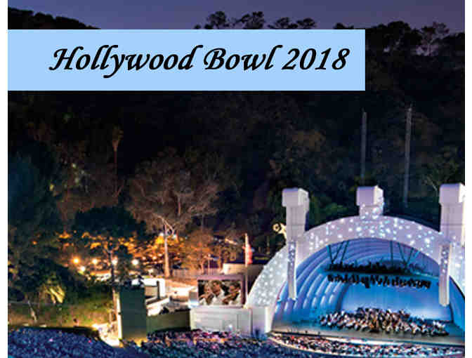 2 Reserved Bench Seat Tickets for the Hollywood Bowl