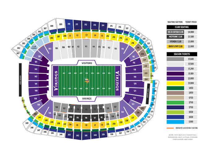 Two (2) MN Vikings Tickets - Photo 5
