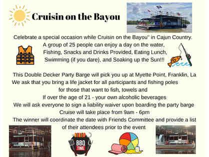 Cruisin on the Bayou - Party Barge for 25 people