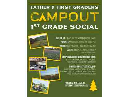 Father and First Graders Campout